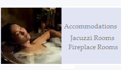 Jacuzzi and Fireplave Bed and Brekfast Rooms